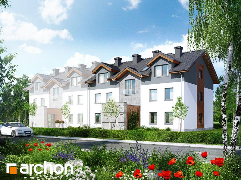 gotowy projekt Dom nad bulwarem 3 (BN) widok 1