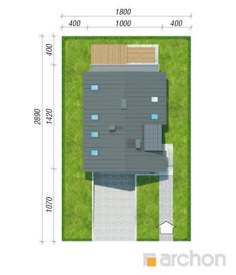 projekt Dom w czermieni 3 (P) sytuacja
