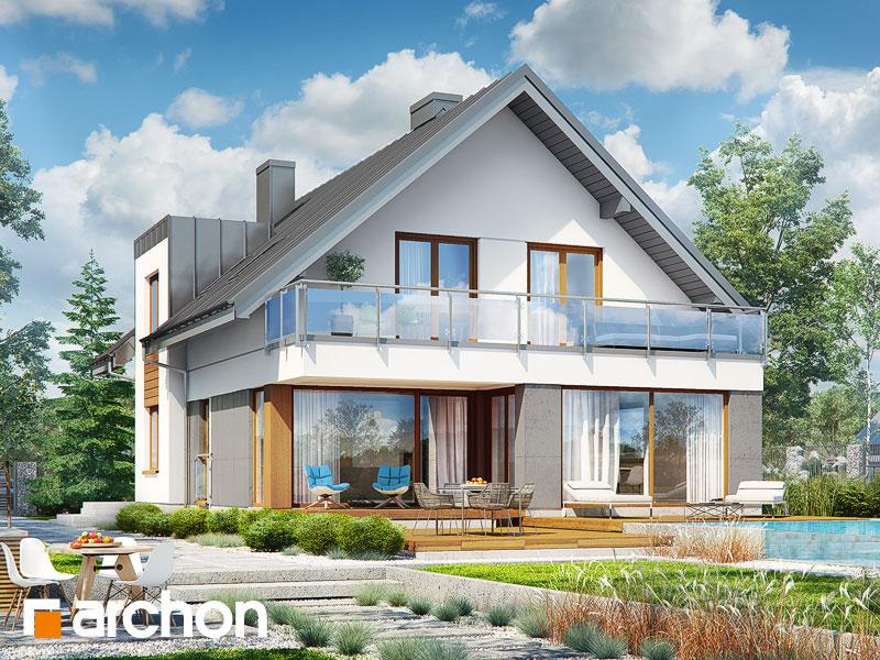 projekt Dom w czermieni 3 (P) widok 1