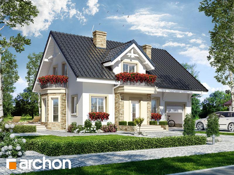 gotowy projekt Dom w rododendronach 14 (T) widok 1