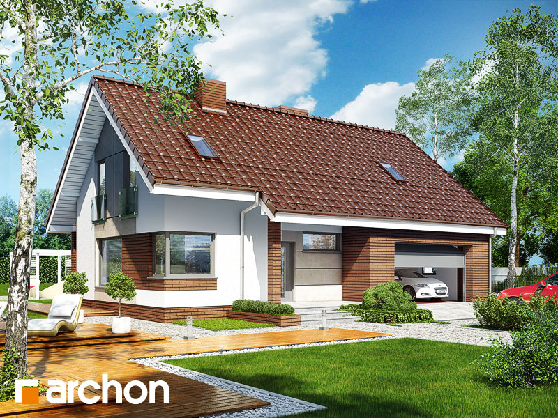 projekt Dom w żurawkach (G2) widok 1