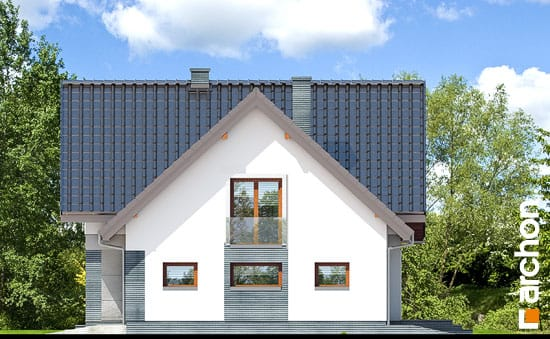 Elewacja boczna projekt dom w milowonkach  265