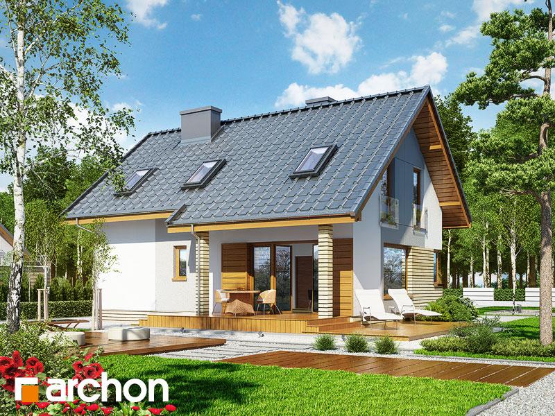gotowy projekt Dom w żurawkach (P) widok 1