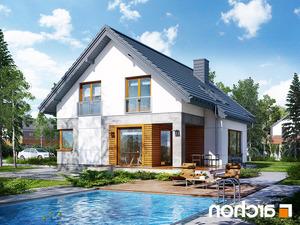 projekt Dom w janowcach lustrzane odbicie 2