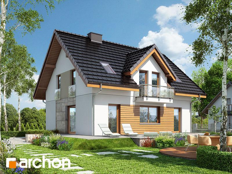 gotowy projekt Dom w truskawkach 3 widok 1