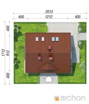 projekt Dom w koniczynce 2 sytuacja