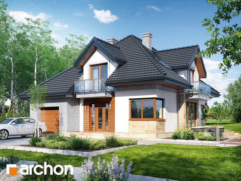 gotowy projekt Dom w wawrzynkach widok 1