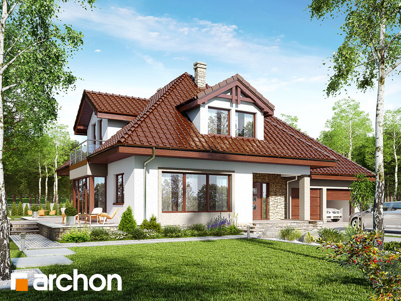 gotowy projekt Dom w czarnuszce (G2A) widok 1