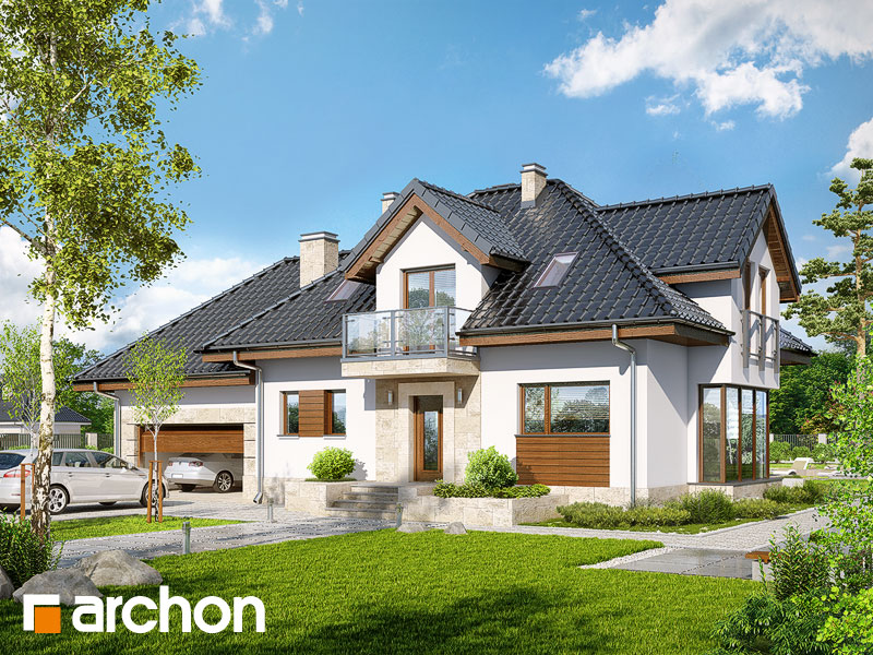 gotowy projekt Dom w werbenach (G2N) widok 1