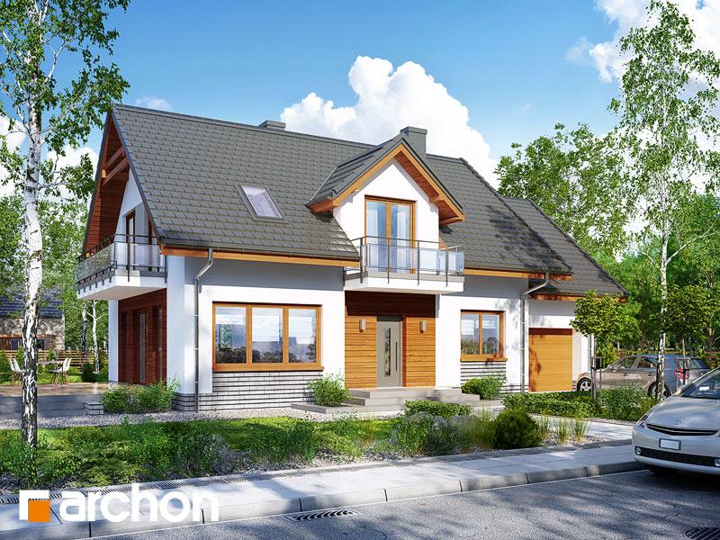 gotowy projekt Dom w rododendronach 16 widok 1