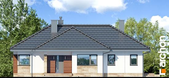 Elewacja frontowa projekt dom w gruszach  264