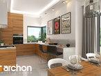 projekt Dom w gruszach Wizualizacja kuchni 1 widok 1