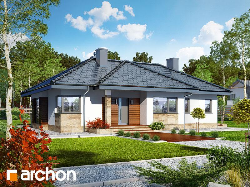 gotowy projekt Dom w gruszach widok 2