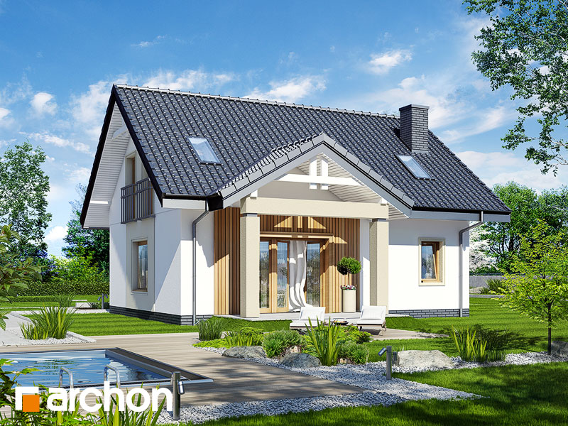 gotowy projekt Dom pod wierzbą widok 1