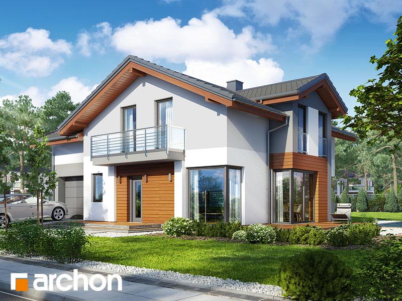 gotowy projekt Dom w budlejach 2 widok 1