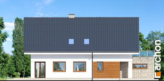 Elewacja boczna projekt dom w kokoryczkach g2  265