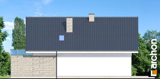 Elewacja boczna projekt dom w kokoryczkach g2  266