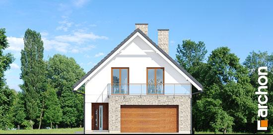 Elewacja frontowa projekt dom w kokoryczkach g2  264