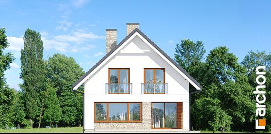 Elewacja ogrodowa projekt dom w kokoryczkach g2  267