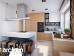 projekt Dom w kokoryczkach (G2) Wizualizacja kuchni 1 widok 1