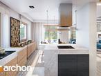 projekt Dom w kokoryczkach (G2) Wizualizacja kuchni 1 widok 2