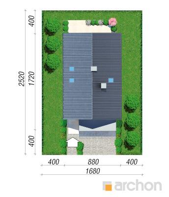 projekt Dom w kokoryczkach (G2) sytuacja