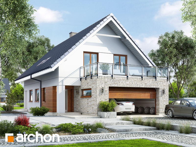 gotowy projekt Dom w kokoryczkach (G2) widok 1