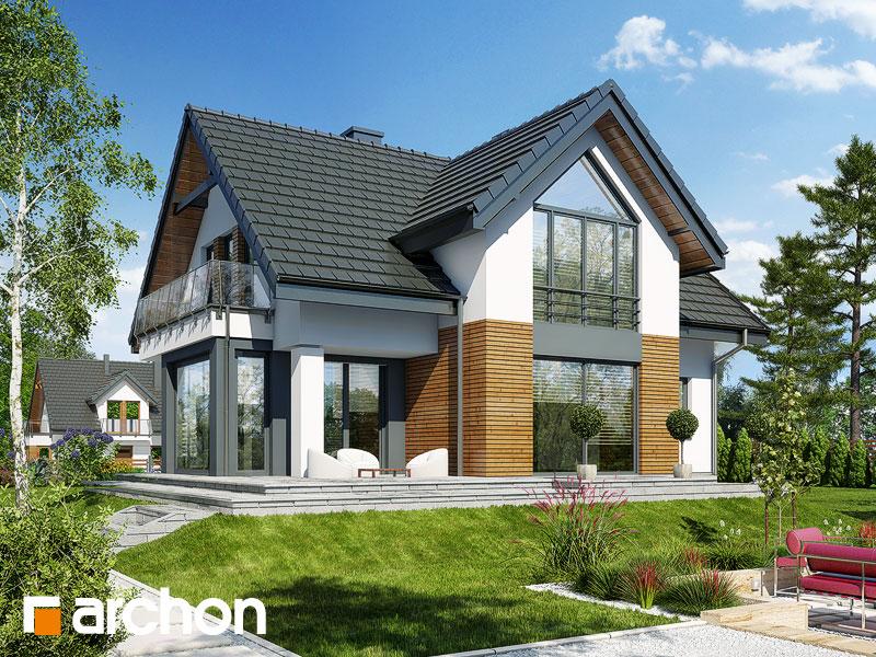 gotowy projekt Dom w szafranie (N) widok 1