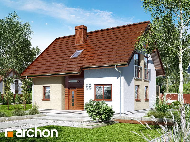 gotowy projekt Dom w zielistkach (P) widok 1
