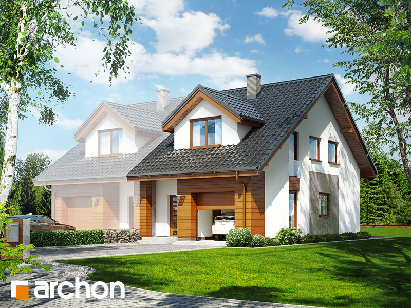 gotowy projekt Dom pod miłorzębem (GBM) widok 1