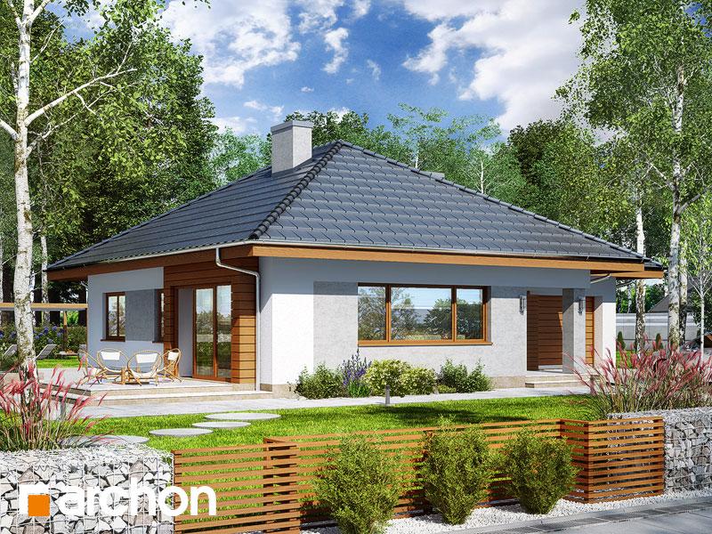 gotowy projekt Dom w lilakach 2 widok 1