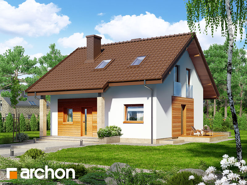 gotowy projekt Dom w poziomkach (PN) widok 1
