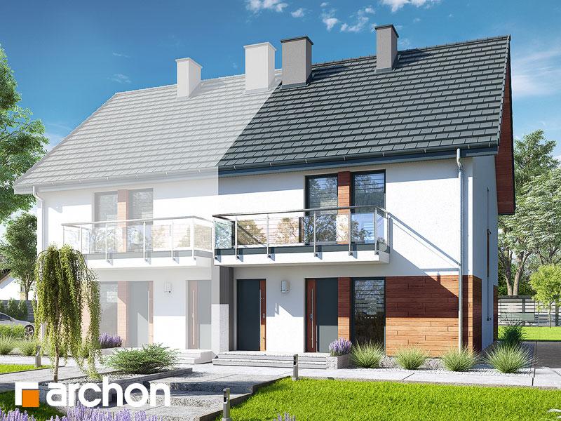 gotowy projekt Dom w bratkach (R2BA) widok 1