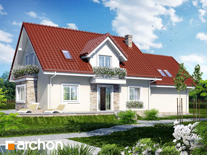 gotowy projekt Dom w werbenach 5 (G2) widok 1
