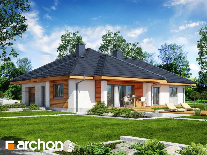 gotowy projekt Dom w gloksyniach 2 widok 1