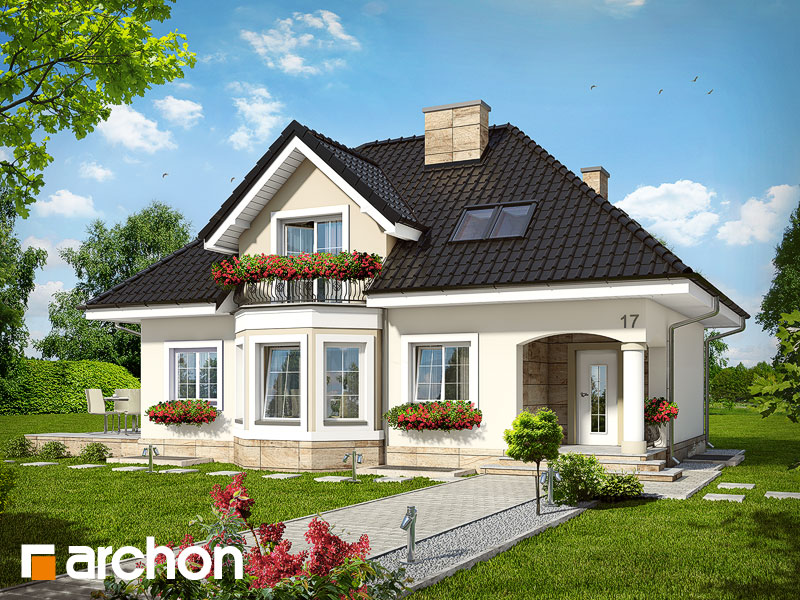 Projekt Domu Dom W Awokado P Archon