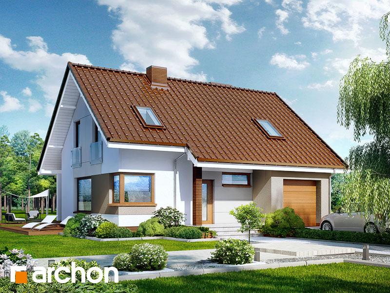 projekt Dom w żurawkach (T) widok 1