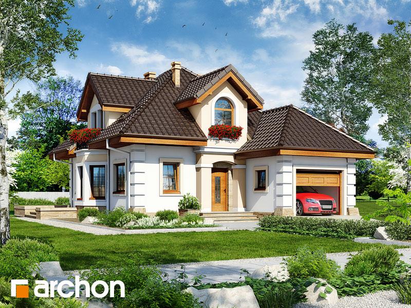 projekt Dom w rukoli 4 widok 1
