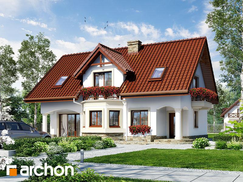 gotowy projekt Dom w majeranku 2 (P) widok 1