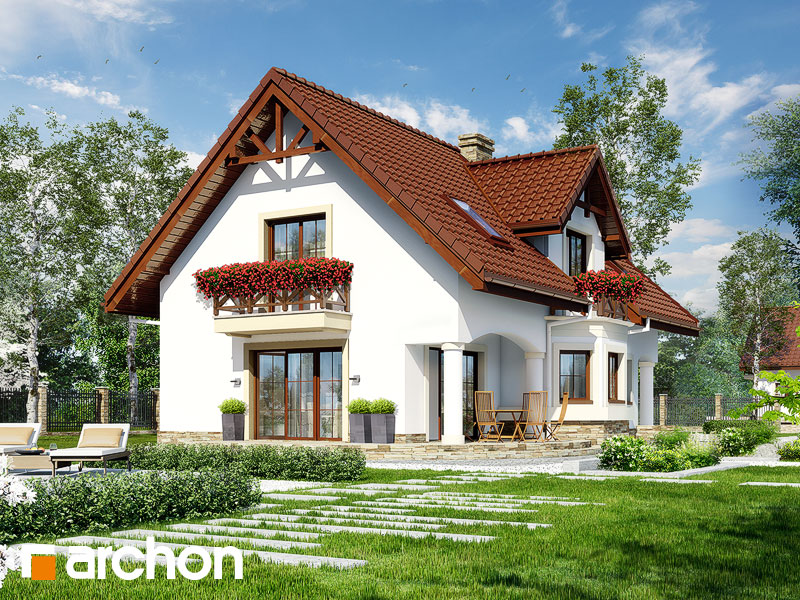 gotowy projekt Dom w majeranku 2 (P) widok 2