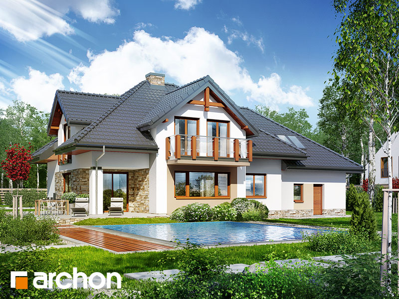 gotowy projekt Dom w kannach 2 (P) widok 2