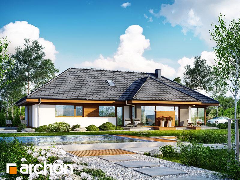gotowy projekt Dom w amarantusach 4 widok 1