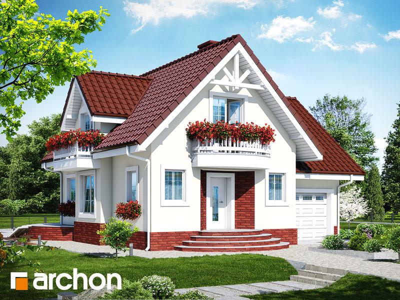 projekt Dom w antonówkach (GT) widok 1