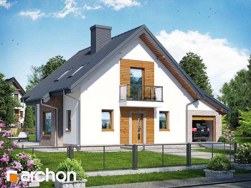 gotowy projekt Dom w rododendronach 4 (PN) widok 1