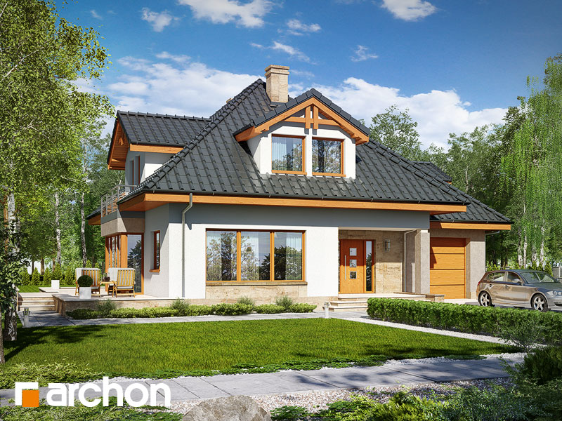 gotowy projekt Dom w czarnuszce (G) widok 1
