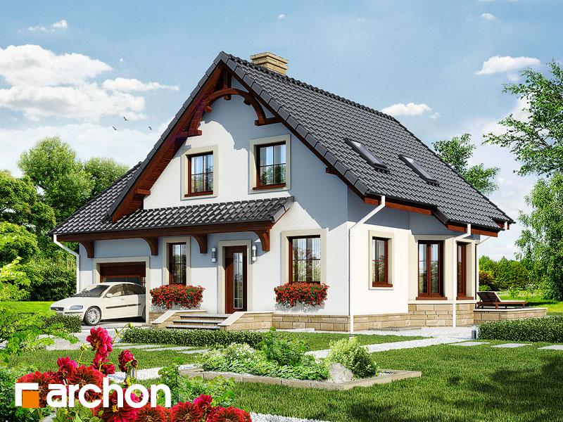 gotowy projekt Dom w tamaryszkach (P) widok 1