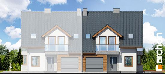 Elewacja frontowa projekt dom w klematisach 15 b  264