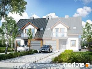 projekt Dom w klematisach 15 (B) lustrzane odbicie 1