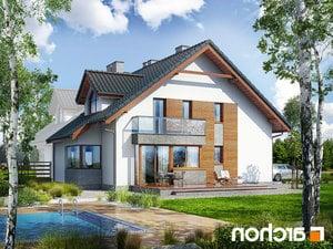 projekt Dom w klematisach 15 (B) lustrzane odbicie 2
