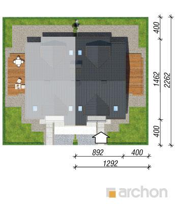 projekt Dom w klematisach 15 (B) sytuacja